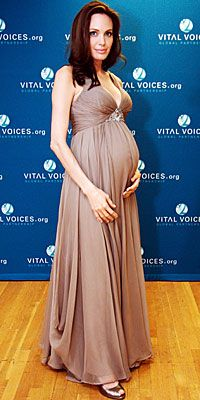 Angelina Jolie's Maternity Style - April 7 from #InStyle