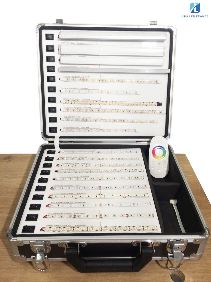 Valise commerciale de DEMONSTRATION Ruban LED pour vos clients!! Pour plus d'infos, veuillez visiter sur www.led-stand.com/