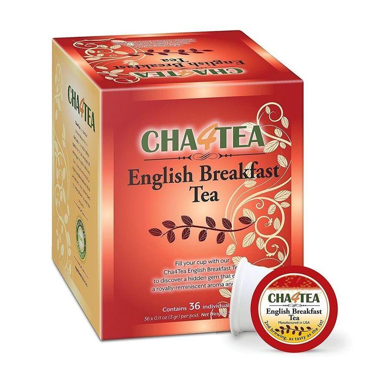 Cha4Tea 36-Count English Breakfast Tea K Cups For Keurig K-Cup
