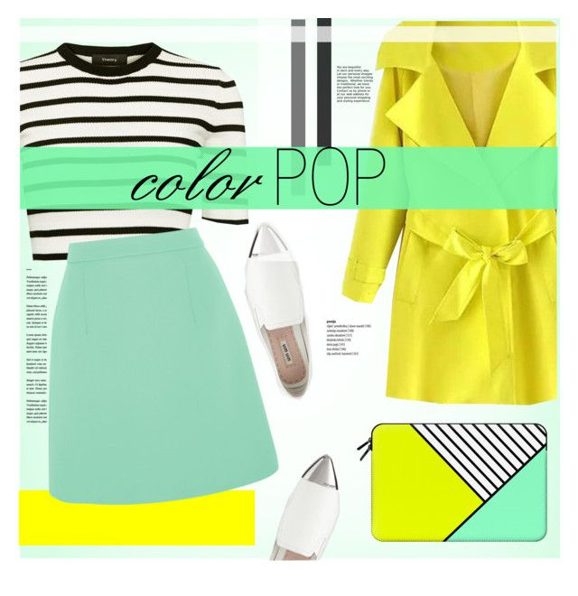 """Color Pop"" by cowseatchard ❤ liked on Polyvore featuring Casetify, Theory, McQ by Alexander McQueen and Miu Miu"