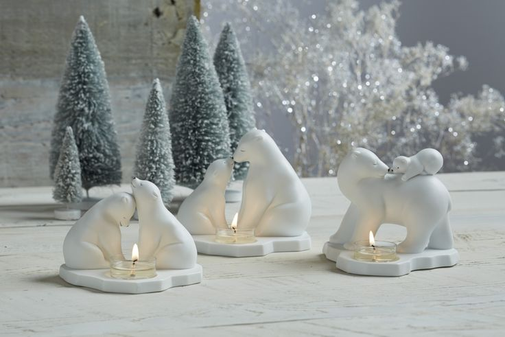 Polar Bear Tealight Holders from PartyLite come in three forms: Mother's Pride and Joy, Mother's Love and Mother's Joy