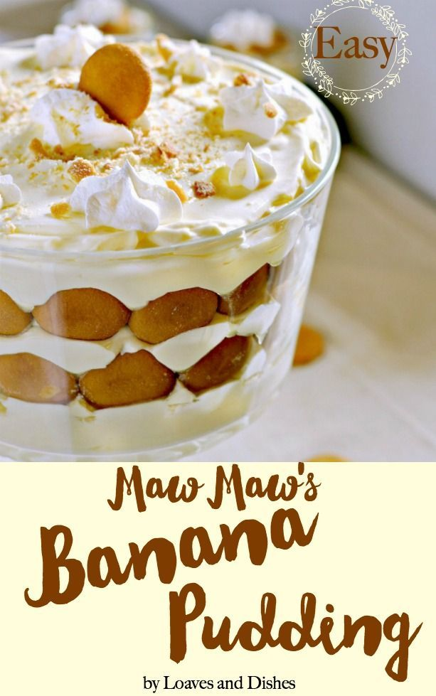 The Easiest And Best Simple Homemade Southern Banana Pudding Recipe From Maw Easy Banana Pudding Recipe Homemade Banana Pudding Recipe Southern Banana Pudding