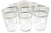 silver moroccan tea glasses or votives