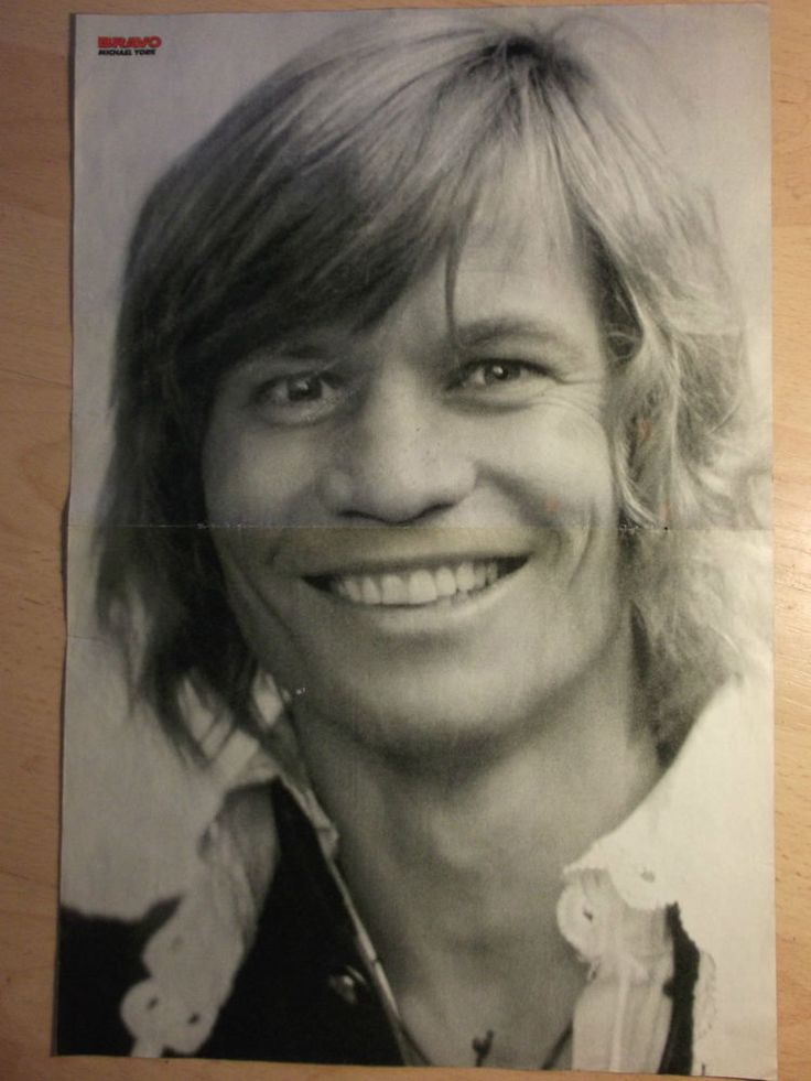 1 german poster MICHAEL YORK NOT SHIRTLESS ACTOR TEEN IDOL BOYS BOY HUNK MAN