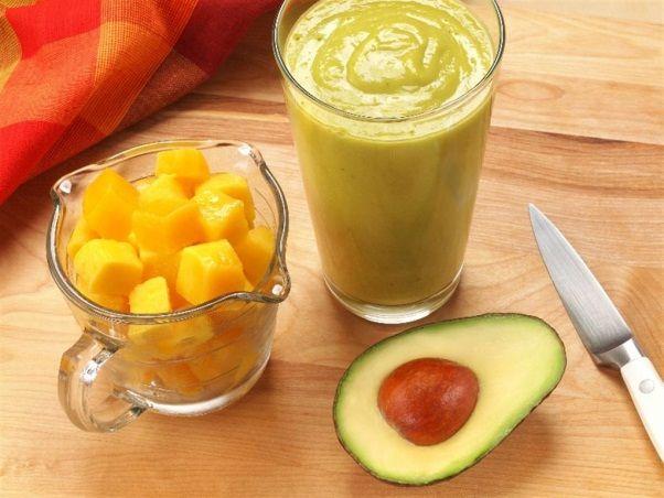 Dairy-Free Mango Avocado Smoothie Recipe! at TheFrugalGirls.com #smoothie #recipes www.greennutrilabs.com