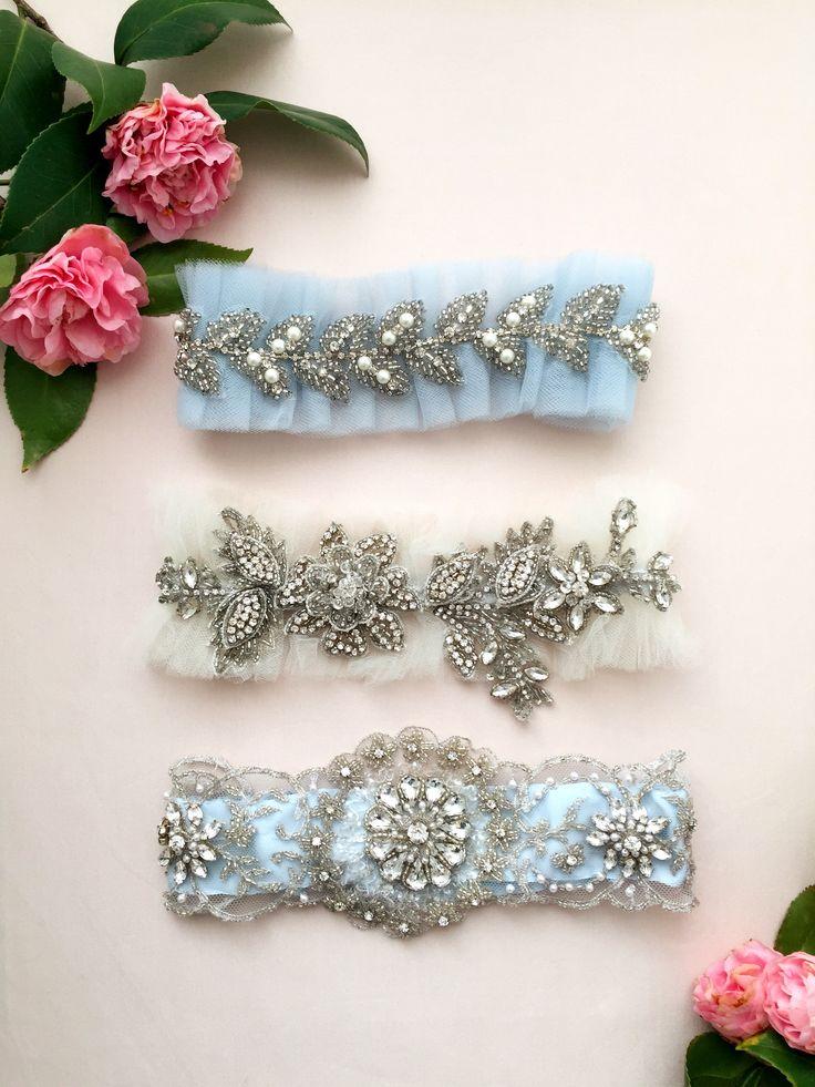 The perfect something blue garters! #wedding #somethingblue #bridalboudoir #weddinggarter www.mamieandjames.com