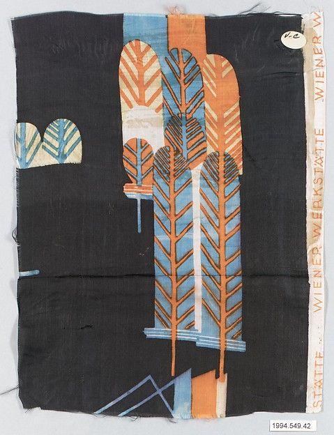 """Romulus"" Textile sample - Wiener Werkstätte - 1910-28 - Maria Likarz"