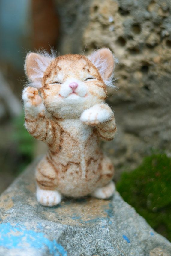 needle felted kitten by mishmashim on Etsy