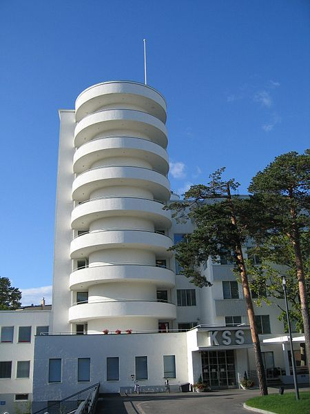 The Tilkka Military Hospital, Helsinki. Designed by architect Olavi Sorrka and built in 1930