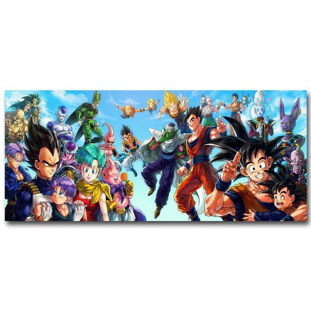 Dragon Ball Z Silk Fabric Poster Mashup by AnimeManiacs on Etsy