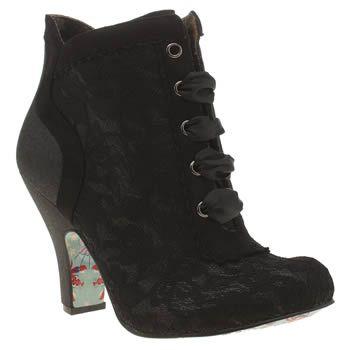 Irregular Choice Black Matucana Sweet Pea Glitter Boots
