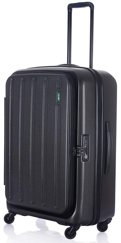 Lojel Hatch 68.5cm Medium Bag 4 Wheel Suitcase + Expander Ice Grey