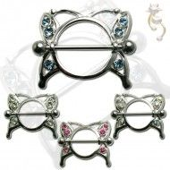 Wholesale Body Jewelry Nipple Ring Buttefly Design With Cz Body Jewelry (Sold By Pair) NIP02