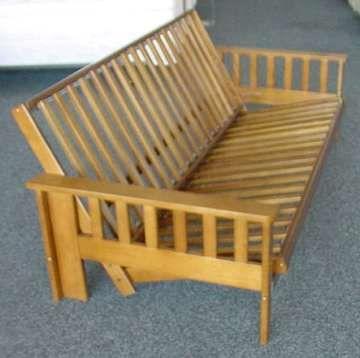 Diy Wooden Futon Frame, Built In Wooden Shelves Closet, Metal ...
