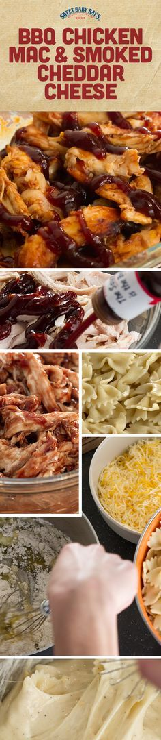BBQ Chicken Mac & Smoked Cheddar Cheese | Sprinkle with additional cheddar cheese and bake for 25-30 minutes or until hot and bubbly