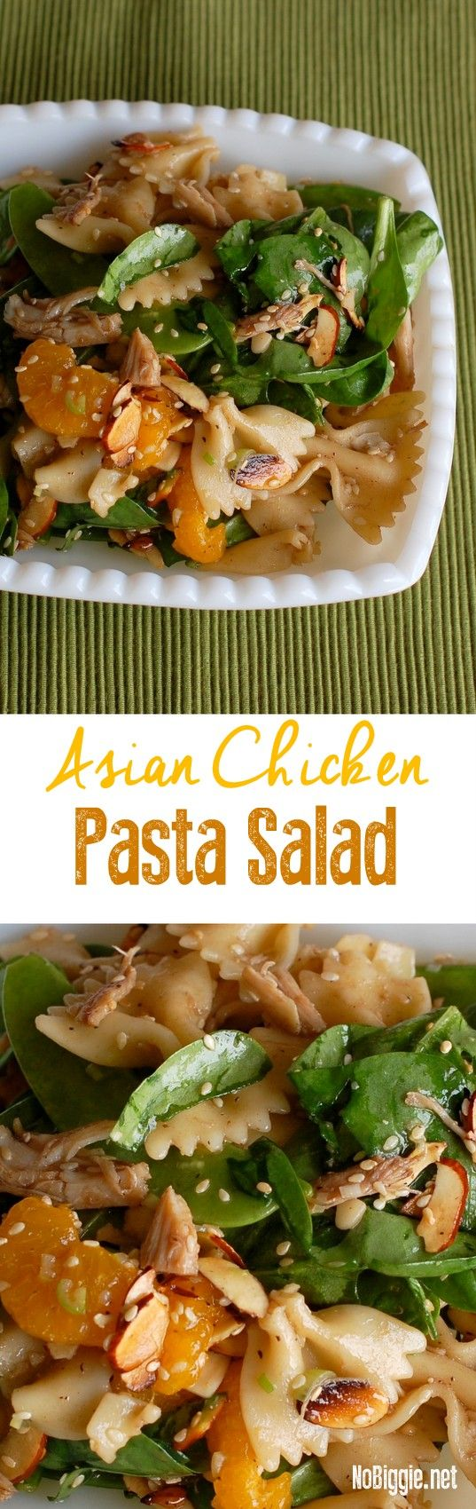 Asian Chicken Pasta Salad - amazing salad for big gatherings | NoBiggie.net