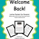 These ready made letters will have you set to go for the first day of school.  Each of these classroom tested letters will give the parents of your...