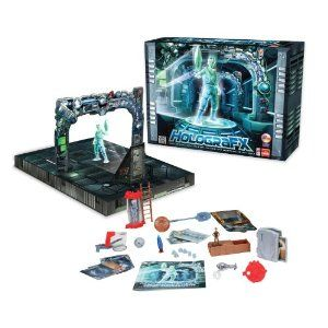 Goliath HolograFX - Magic and Adventure Set. I was looking for an authentic present for my nephew and absolutely made the best choice! The box comes with an extensive amount of awesome props that interact with the holograms. I am a kid of the 80's and I've been waiting for a product like this for years! I was astonished seeing the hologram effect for the first time!