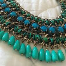 Collar moda azul turquesa