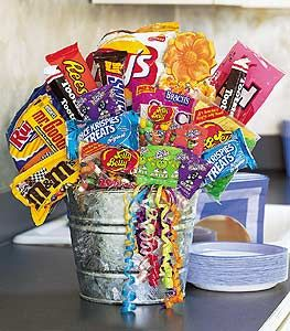 9 best fruit and snacks images on pinterest basket ideas junk food gift basket is a guilty pleasure loved by so many negle Gallery