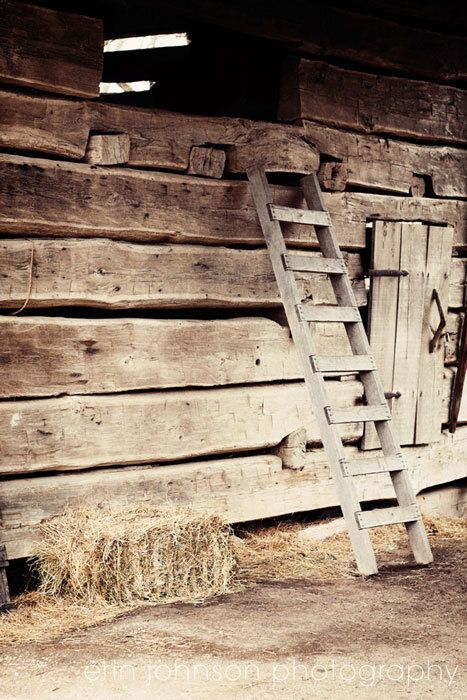 rustic farm photography barn photograph brown decor farm decor brown wall art wood decor Ladder 8x10. $25.00, via Etsy.