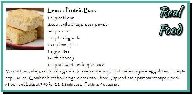 Lemon Protein Bars