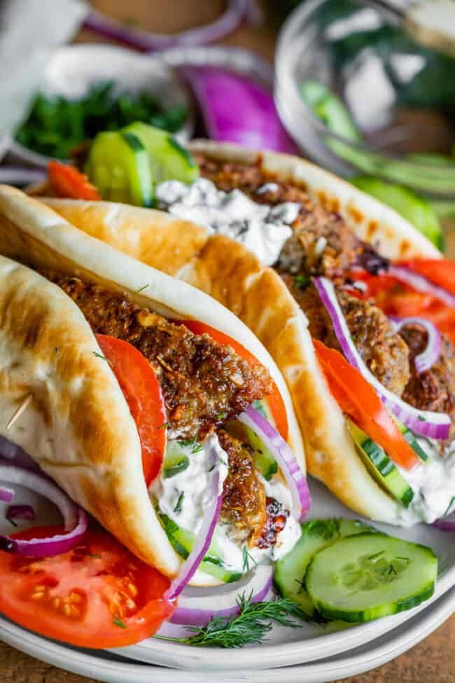 Greek Gyro Recipe With Homemade Gyro Meat From The Food Charlatan Make Your Favorite American Style Greek Gyros At Home Thi In 2020 Gyro Recipe Gyro Meat Greek Gyros