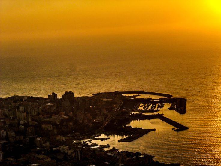 Sunset at jounieh city Lebanon