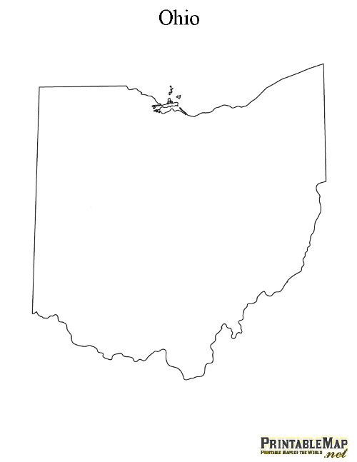 Printable Map of Ohio