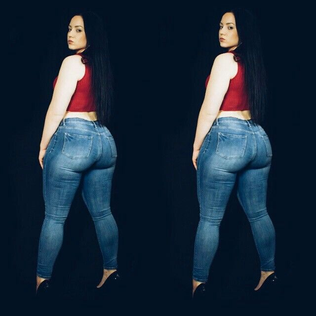 image Pawg in tight fitting jeans