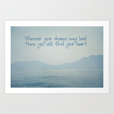 Wherever your dreams may lead - art print by Around the Island (Robin Epstein)