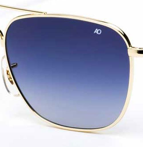 AO Eyewear Original Pilot Limited Edition Sunglasses with Gradient Blue, Brown & Green Polycarbonate Lenses for a cool, timely look!