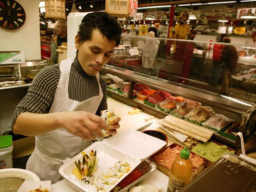Andy 39 s sushi bar inside wholey 39 s fish market 1711 penn for Wholey s fish market