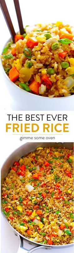 This recipe tastes even better than the restaurant version, plus it's quick and easy to make! Feel free to add chicken, shrimp or pork if you'd like. | http://gimmesomeoven.com