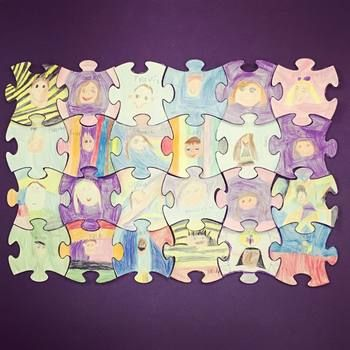 We all fit together - Jigsaw puzzle bulletin board