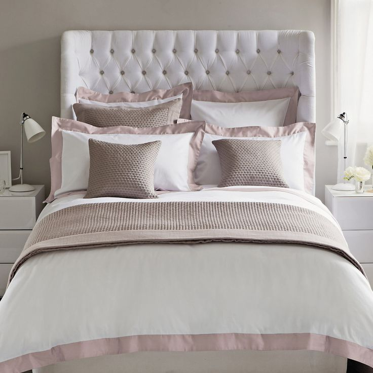 buy bedroom bed linen genoa bed linen collection taupe from the white company