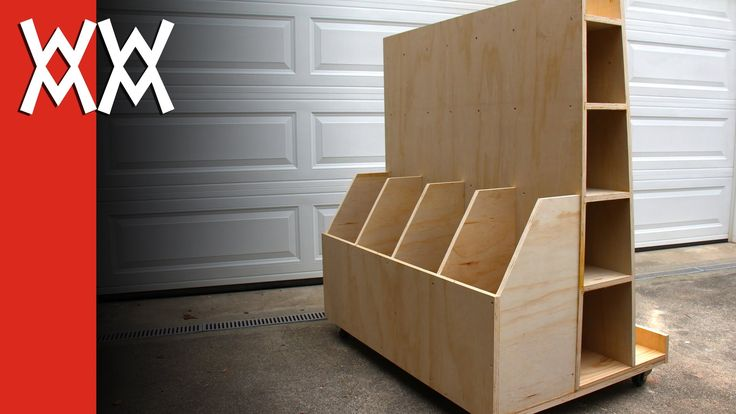 Here's a rolling cart for storing lumber, plywood, and other sheet goods in your workshop. I made this to take up as little space as possible, yet hold a lot...