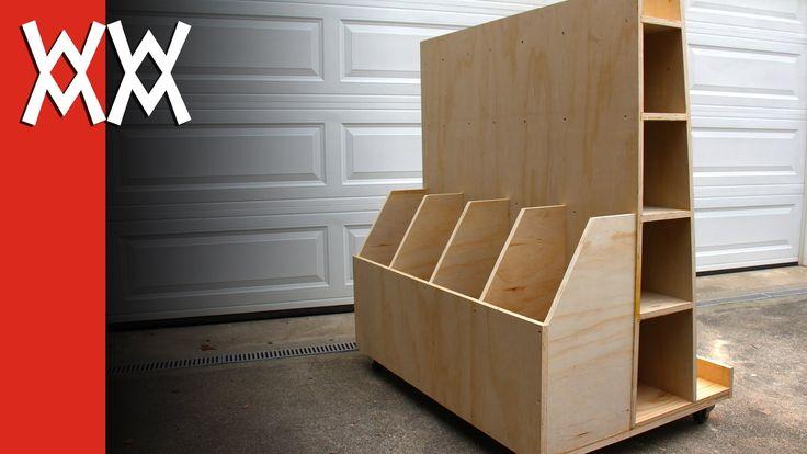Build a lumber storage cart, via YouTube.