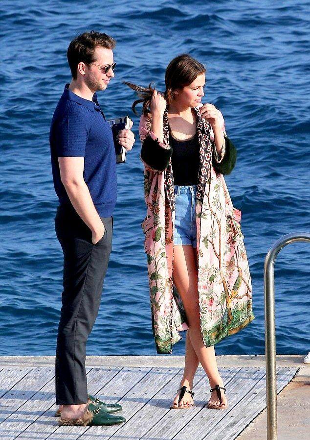 Dasha Zhukova   Derek Blasberg  Cannes yacht