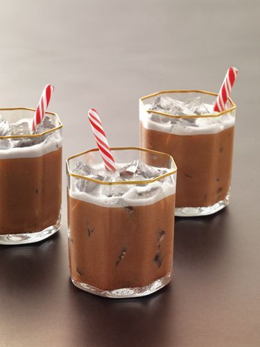 1½ oz. Grey Goose Cherry Noir Flavored Vodka ½ oz. peppermint schnapps 1 oz. heavy cream 1 oz. chocolate syrup Garnish: mini candy canes Combine all ingredients in a cocktail shaker filled with ice. Shake vigorously. Strain into a glass filled with ice and garnish with mini candy canes. Source: Grey Goose Vodka