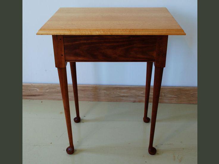 Birdseye Maple Side Table By Paul Donio Of Hawk Ridge Furniture St Johnsbury Table Birdseye