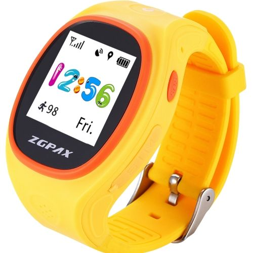 [€26.17] ZGPAX S866A 1.22 inch IPS Screen Lovely Children Smartwatch GPS Tracking Watch, Support SIM Card, 2G Network, Accurate Positioning, HD Voice Call, Pedometer, Alarm Clock, Family Number Speed Dial(Yellow)