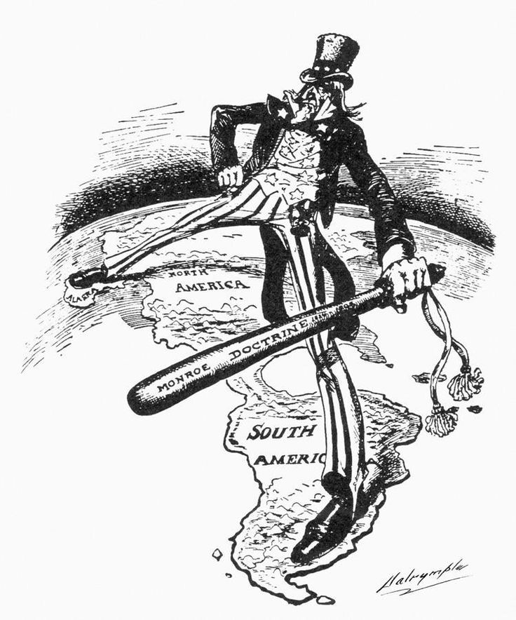 Monroe Doctrine: A declaration made by President Monroe that interference in Latin American affairs would be considered an attack on American interests. Intrusion in the New World by European powers would not go unnoticed and would be severely punished.