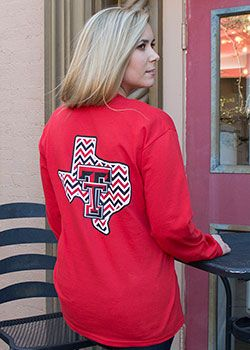 Chevron State Red Long Sleeve - Red Raider outfitter