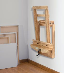 Wallmount easel by BEST. Neat idea for those that are short on space to create.
