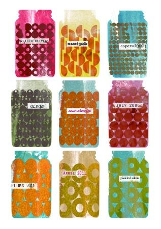 gillian blease: Gillian Bleas, Art Patterns, Vibrant Colour, Pretty Jars, Water Colour, Illustration Graphics Patterns, Illustrations Graph, Colour Enhancer, Food Illustrations
