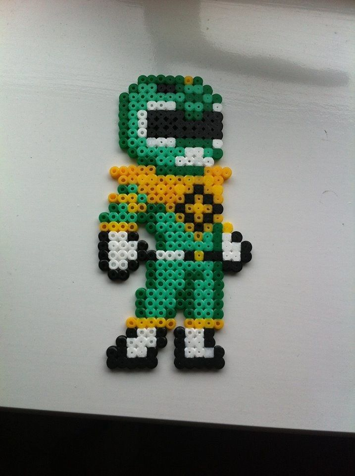 Green power ranger - perler beads by Rest-In-Pixels