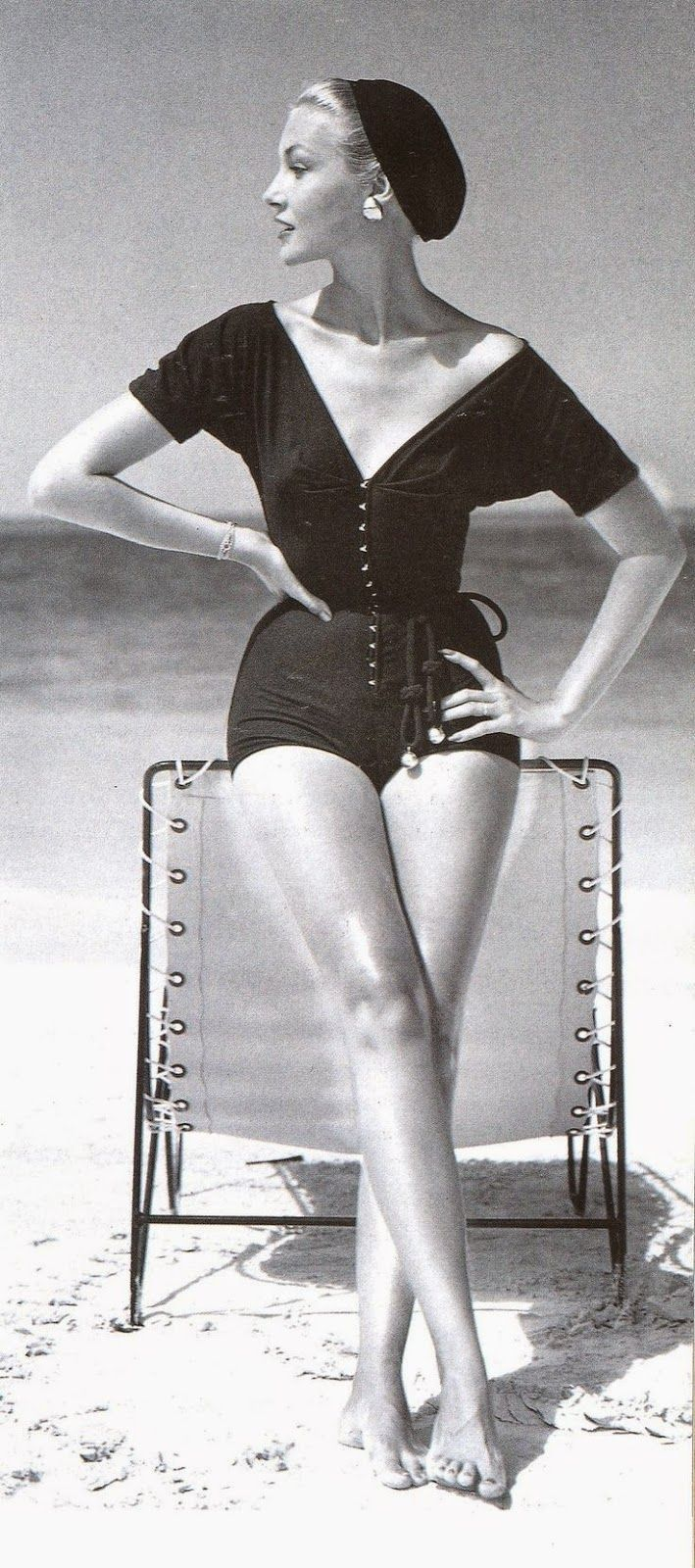 Knit bathing suit by Claire McCardell