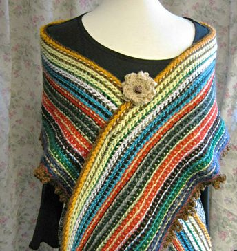Cro Knit Patterns : I made this stashbuster shawl wrap with a double-ended crochet hook (aka cro-...