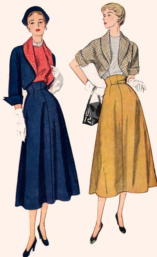 1940s Blouse and Skirt w/ Shawl Collar Bolero Hollywood Style Simplicity 3089 Vintage 40s SWING ERA Sewing Pattern Size 16 Bust 34 UNCUT by sandritocat on Etsy